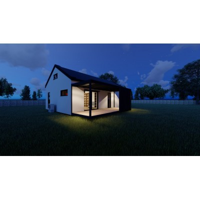 Modułowy dom 4-pokojowy