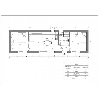 Dom modułowy 3-pokojowy